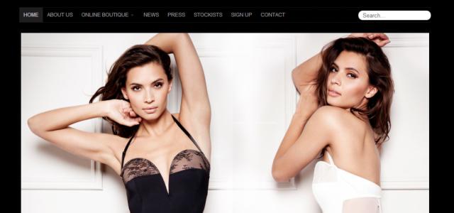 Screenshot from luxury lingerie website Tatu Couture