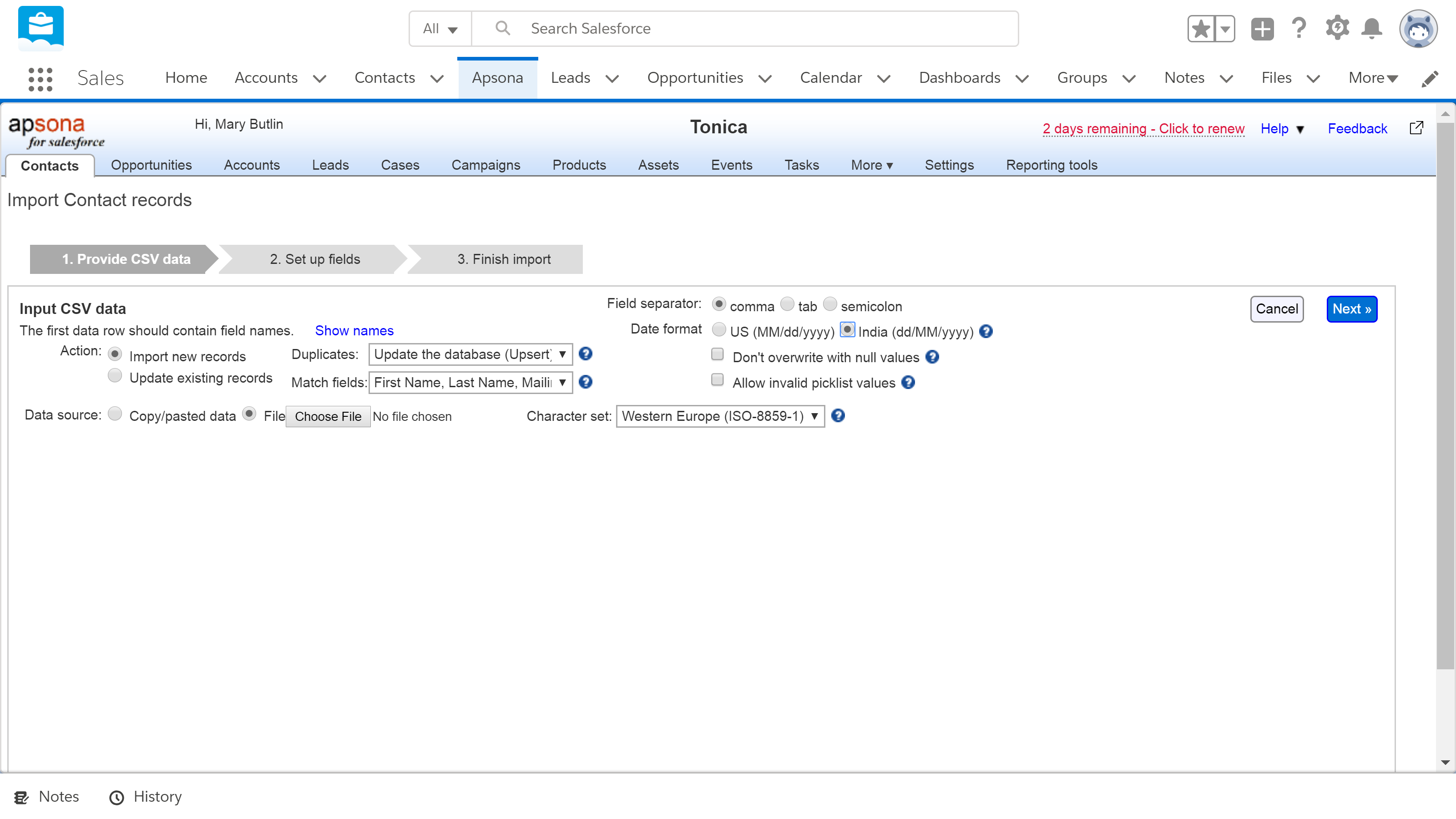 Why do I use Apsona for importing data to Salesforce? – Tonica CRM